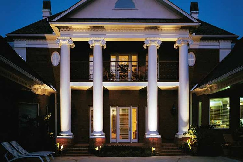 Classical Exterior - Rear Elevation Plan #45-413 - Houseplans.com
