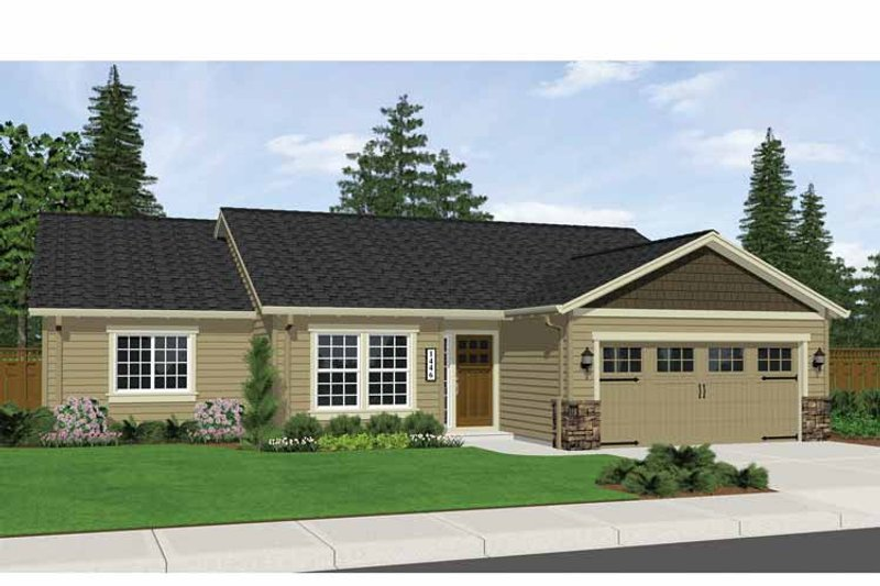 Ranch Exterior - Front Elevation Plan #943-10 - Houseplans.com