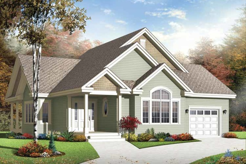 Traditional Exterior - Front Elevation Plan #23-2529 - Houseplans.com