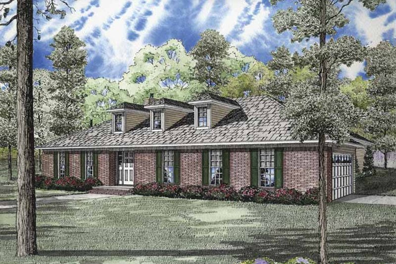 Ranch Exterior - Front Elevation Plan #17-2832 - Houseplans.com