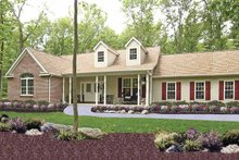 Architectural House Design - Country Exterior - Front Elevation Plan #314-220