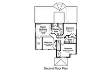 European Floor Plan - Upper Floor Plan Plan #46-487