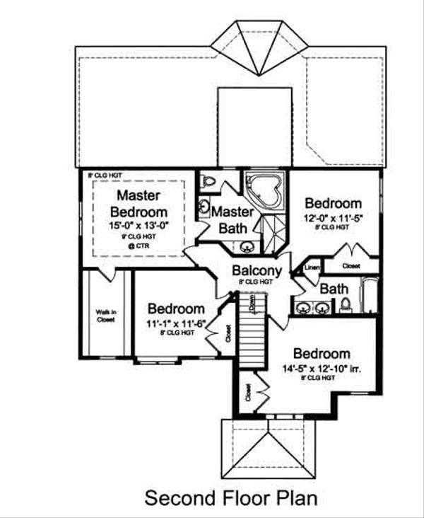Dream House Plan - European Floor Plan - Upper Floor Plan #46-487