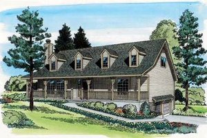 Country Exterior - Front Elevation Plan #312-592