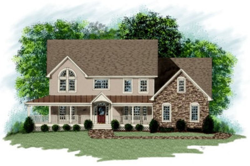 Farmhouse Exterior - Front Elevation Plan #56-208