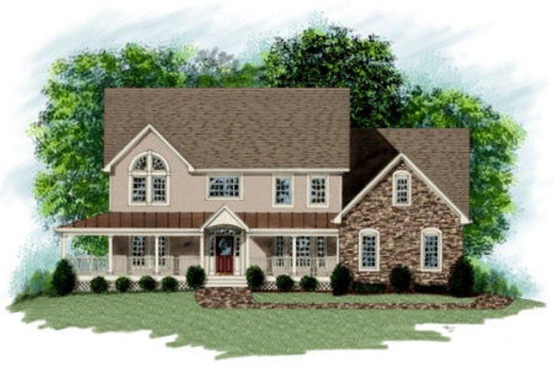 Farmhouse Exterior - Front Elevation Plan #56-208