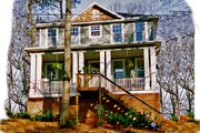 Cottage Style House Plan - 3 Beds 2.5 Baths 1740 Sq/Ft Plan #30-101