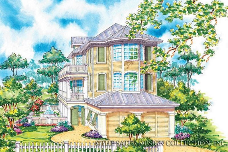 Country Exterior - Front Elevation Plan #930-68