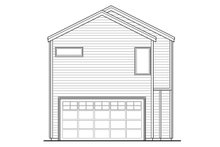 House Plan Design - Modern Exterior - Rear Elevation Plan #124-922