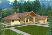 Ranch Style House Plan - 3 Beds 2.5 Baths 2618 Sq/Ft Plan #117-437 Exterior - Front Elevation