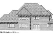 European Style House Plan - 4 Beds 3.5 Baths 3487 Sq/Ft Plan #70-523 Exterior - Rear Elevation