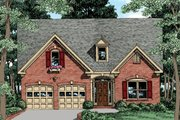 Traditional Style House Plan - 3 Beds 2 Baths 1347 Sq/Ft Plan #927-35 Exterior - Front Elevation