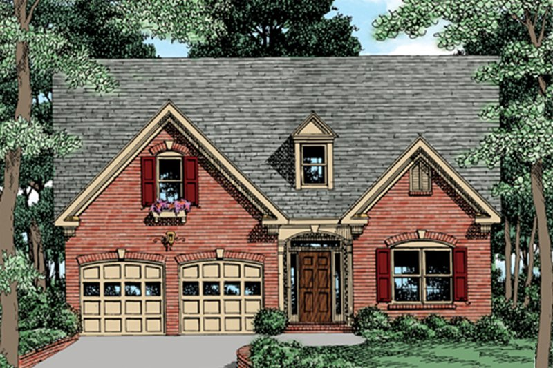 Traditional Exterior - Front Elevation Plan #927-35 - Houseplans.com