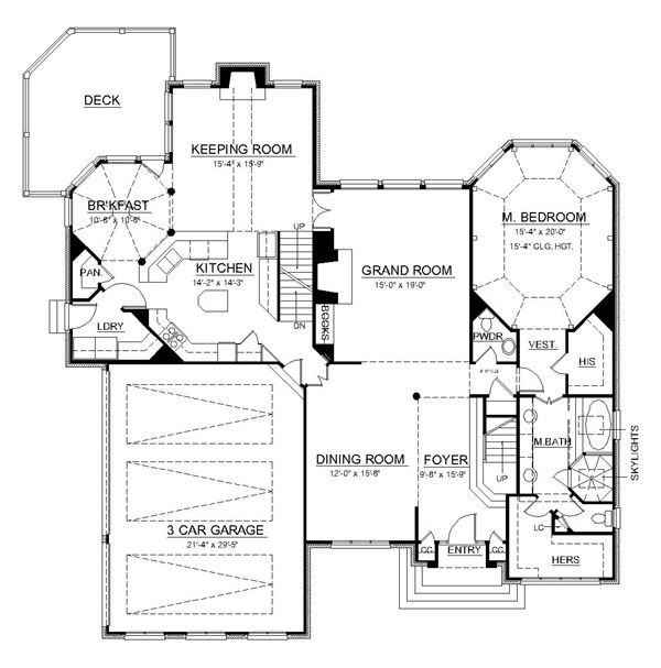 European Floor Plan - Main Floor Plan Plan #119-297