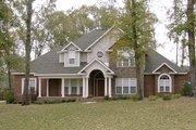 European Style House Plan - 4 Beds 3.5 Baths 3089 Sq/Ft Plan #63-167 Exterior - Front Elevation