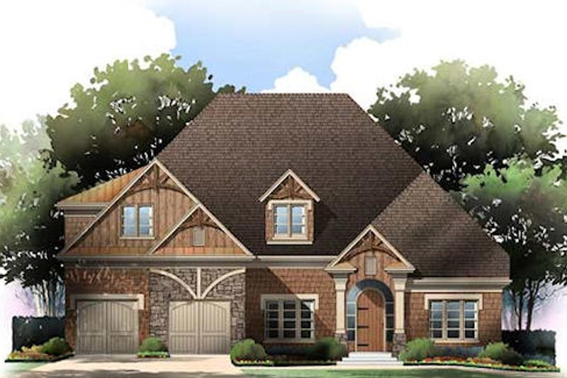 Tudor Exterior - Front Elevation Plan #119-332