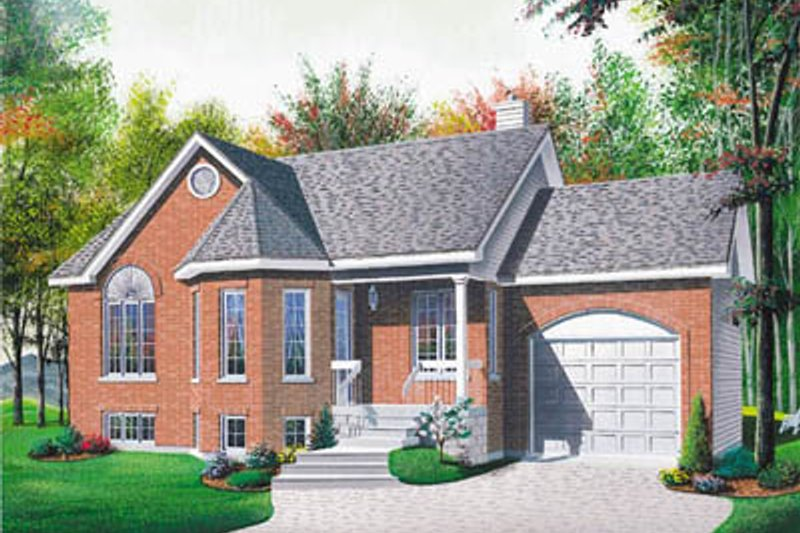 European Style House Plan - 2 Beds 1 Baths 1012 Sq/Ft Plan #23-1009 Exterior - Front Elevation