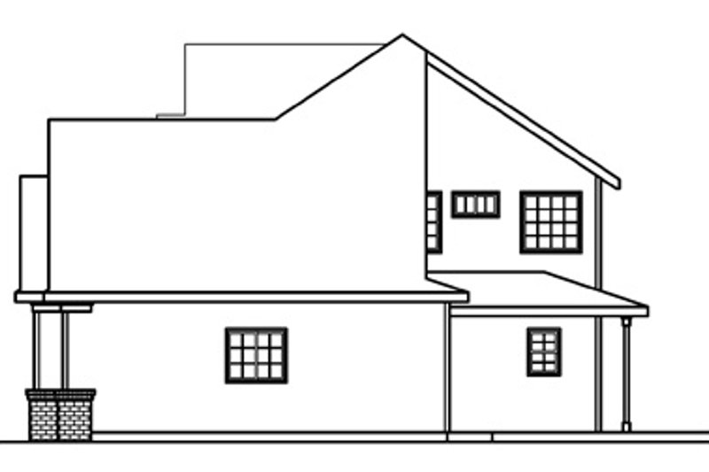 Traditional Exterior - Other Elevation Plan #124-361 - Houseplans.com