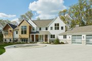 Farmhouse Style House Plan - 5 Beds 3.5 Baths 4478 Sq/Ft Plan #928-308 Exterior - Front Elevation