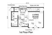 Cottage Style House Plan - 1 Beds 1.5 Baths 664 Sq/Ft Plan #513-2180 Floor Plan - Main Floor
