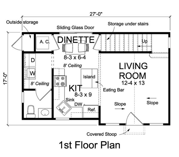 Cottage Floor Plan - Main Floor Plan Plan #513-2180