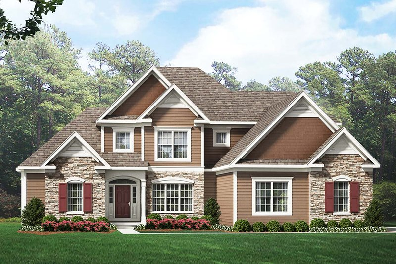 Architectural House Design - Traditional Exterior - Front Elevation Plan #1010-223