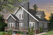 Cottage Exterior - Front Elevation Plan #23-760