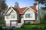 Traditional Style House Plan - 3 Beds 2 Baths 1291 Sq/Ft Plan #100-303 Exterior - Front Elevation