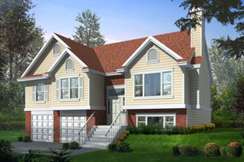 Traditional Exterior - Front Elevation Plan #100-303 - Houseplans.com
