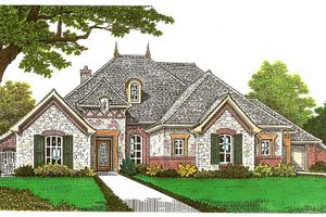 European Exterior - Front Elevation Plan #310-667
