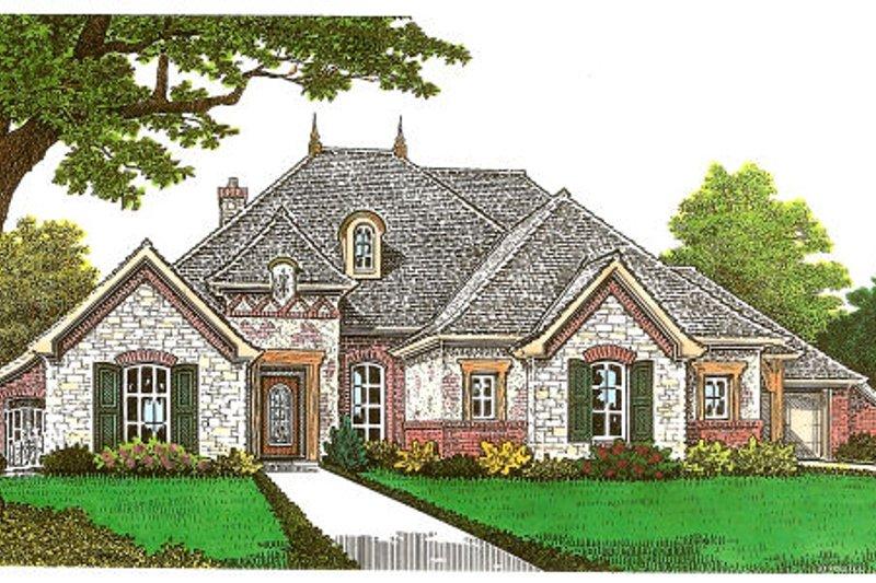 Dream House Plan - European Exterior - Front Elevation Plan #310-667