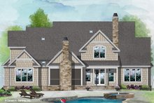 Architectural House Design - Traditional Exterior - Rear Elevation Plan #929-1101