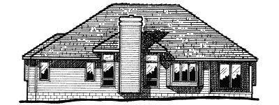 European Exterior - Rear Elevation Plan #20-102 - Houseplans.com