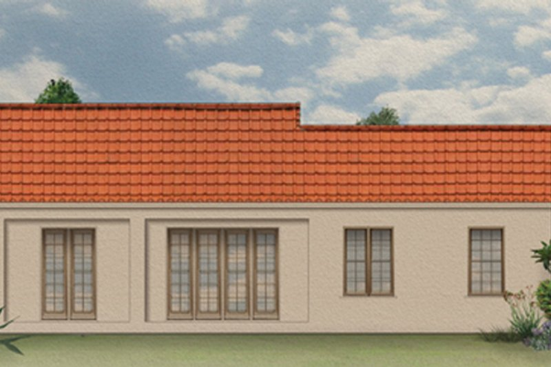 Mediterranean Exterior - Rear Elevation Plan #1058-5 - Houseplans.com