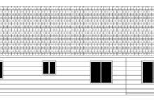 Craftsman Exterior - Rear Elevation Plan #943-43