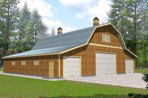 Country Exterior - Front Elevation Plan #117-483