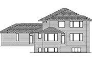 Prairie Style House Plan - 3 Beds 2.5 Baths 2896 Sq/Ft Plan #51-283 Exterior - Rear Elevation