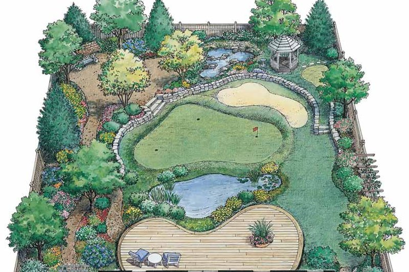 Exterior - Rear Elevation Plan #1030-1 - Houseplans.com