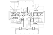 Southern Style House Plan - 4 Beds 3.5 Baths 3435 Sq/Ft Plan #1054-19 Floor Plan - Upper Floor Plan