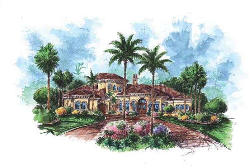 Dream House Plan - Mediterranean Exterior - Front Elevation Plan #1017-103
