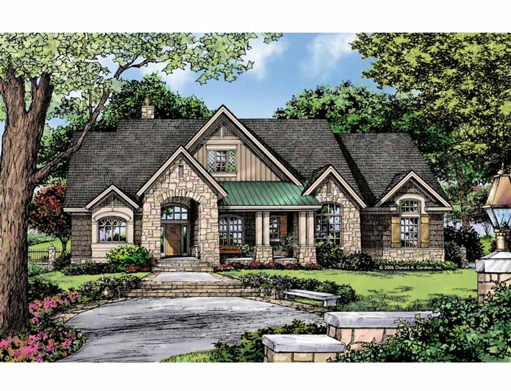 Craftsman style house plan 3 beds 2 baths 1920 sq ft for Craftsman vs mission style