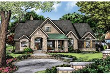 House Plan Design - Craftsman Exterior - Front Elevation Plan #929-875