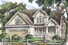 Country Exterior - Front Elevation Plan #929-697