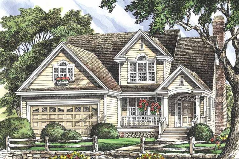 Country Exterior - Front Elevation Plan #929-697 - Houseplans.com