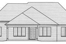 House Plan Design - European Exterior - Rear Elevation Plan #46-854