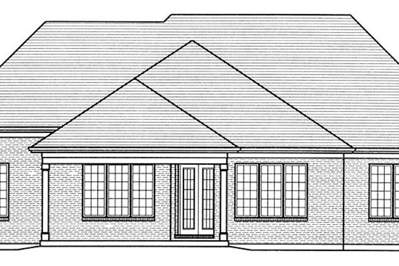 European Exterior - Rear Elevation Plan #46-854 - Houseplans.com