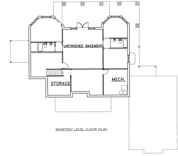 Bungalow Floor Plan - Lower Floor Plan Plan #117-569