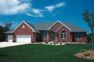 House Blueprint - Traditional Exterior - Front Elevation Plan #20-2419