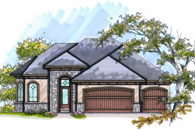 Dream House Plan - European Exterior - Front Elevation Plan #70-991