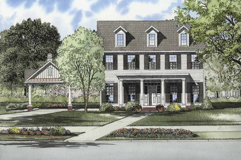 Dream House Plan - Contemporary Exterior - Front Elevation Plan #17-2871